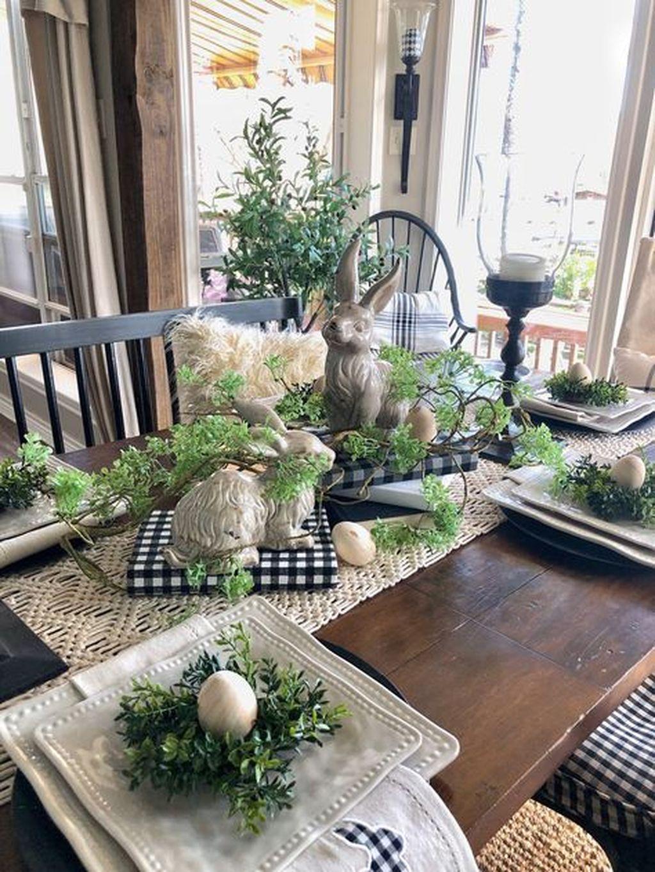 The Best Farmhouse Style Spring Tablescape Decor Ideas 03