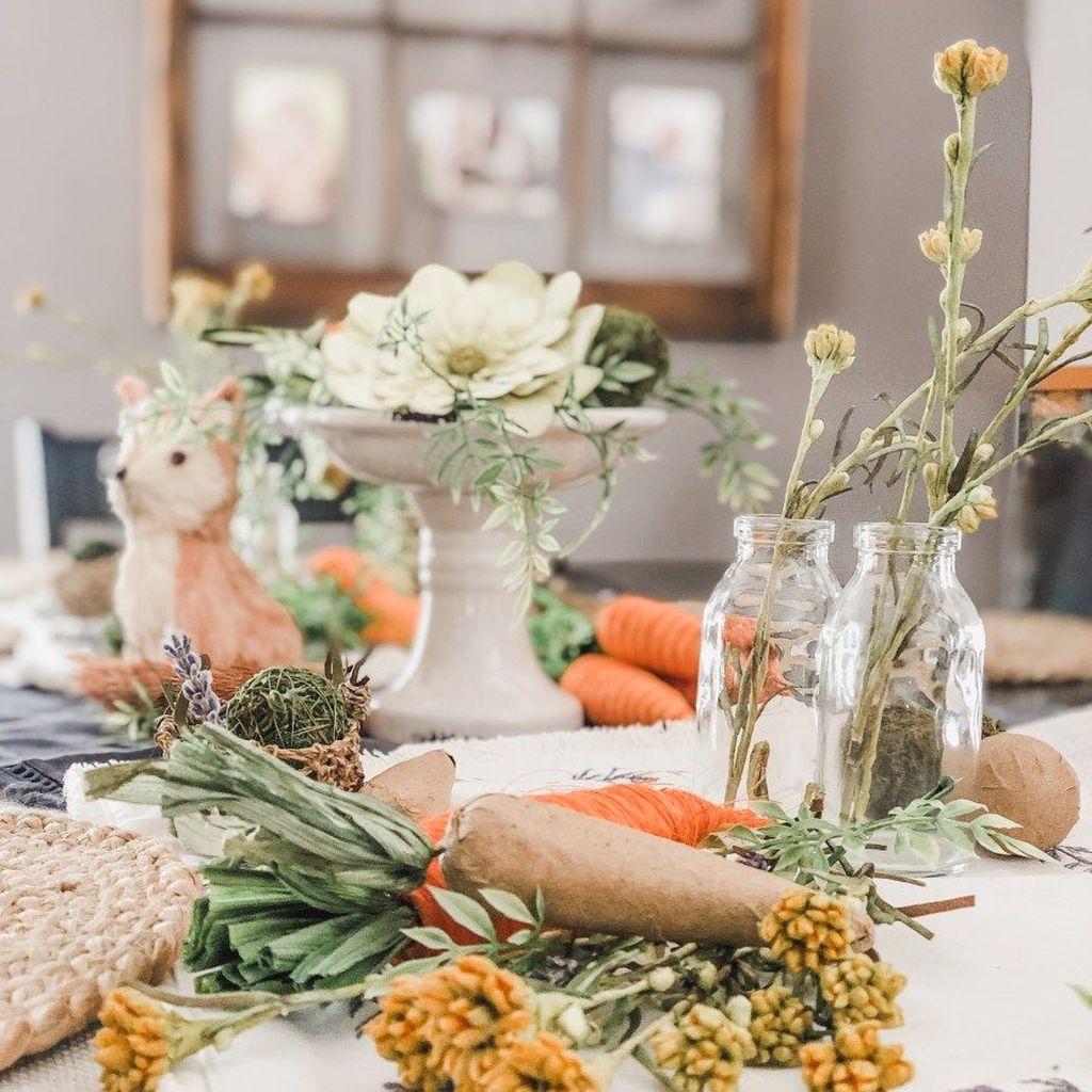 The Best Farmhouse Style Spring Tablescape Decor Ideas 27