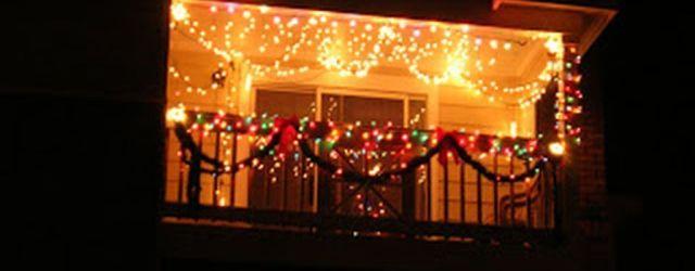 Apartment Balcony Christmas Decorations