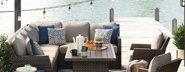 Outdoor Sectional Dining Set