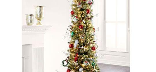Pencil Christmas Tree With Lights