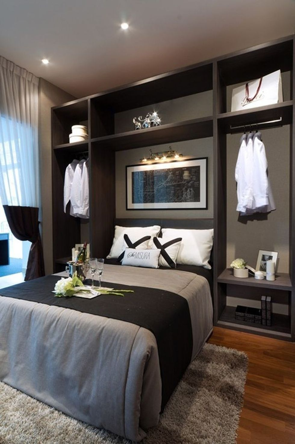 Cool modern bedroom design ideas 1 - Hoommy.com on Cool Bedroom Ideas For Small Rooms  id=60967