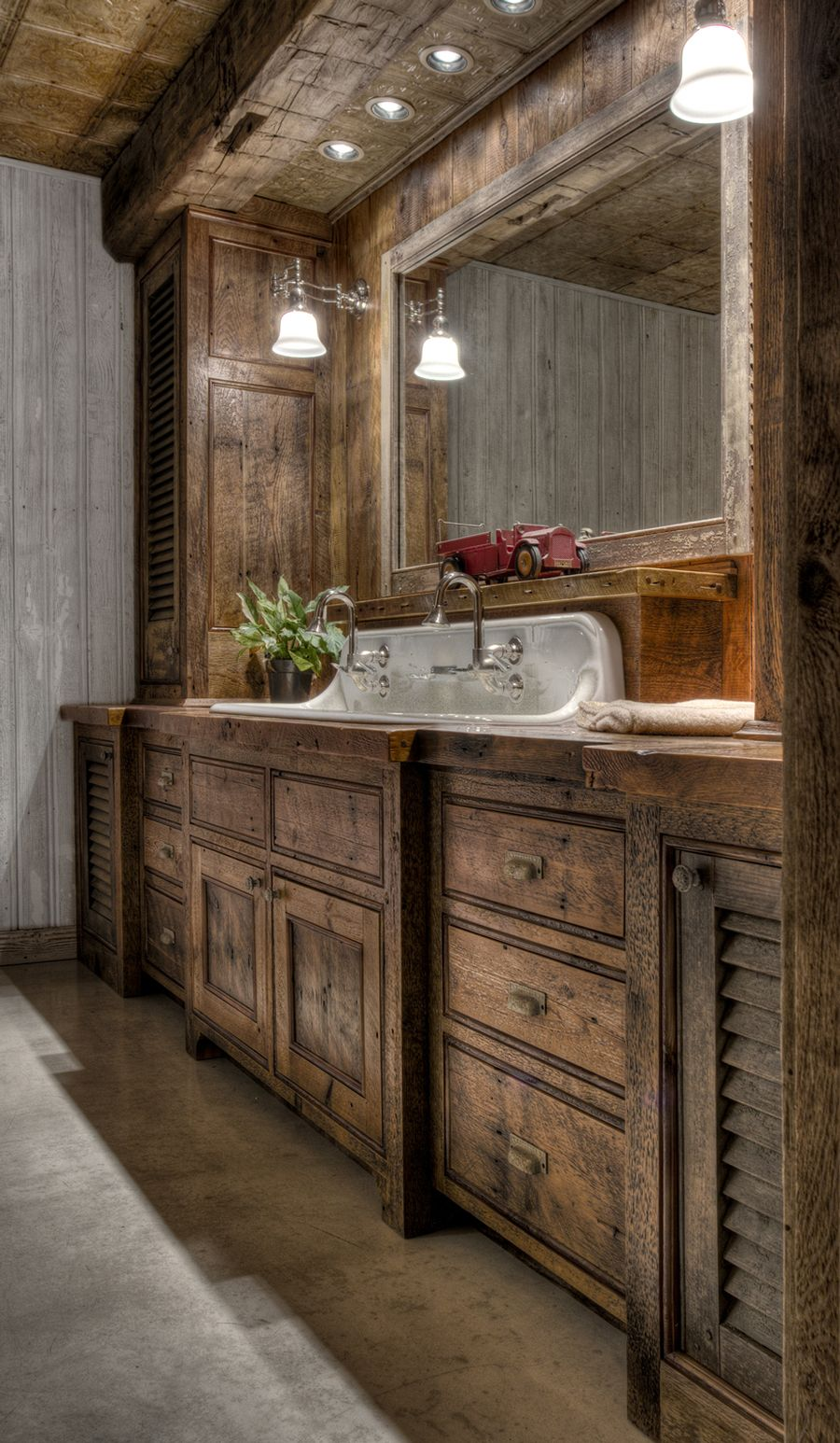 Rustic farmhouse style bathroom design ideas 58 - Hoommy.com on Farmhouse Bathroom Ideas  id=20177