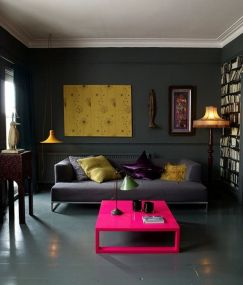 Inspiring Contrast Color Theme Interior Design 13