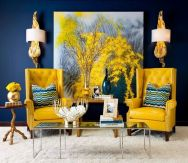 Inspiring Contrast Color Theme Interior Design 17