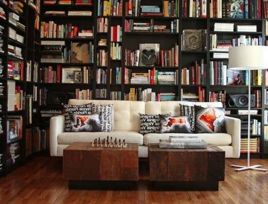 Inspiring Home Library Design and Decorations 42