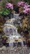 Make a mini waterfall in the garden 15