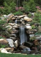 Make a mini waterfall in the garden 16