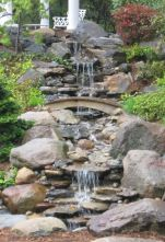 Make a mini waterfall in the garden 20