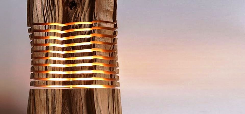Wood Lamp Sculpture