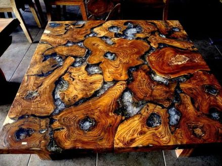 Awesome Resin Wood Table Project 29