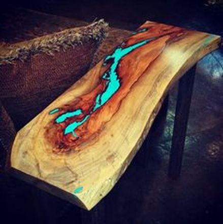 Awesome Resin Wood Table Project 38