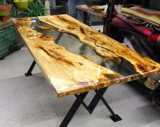 Awesome Resin Wood Table Project 44