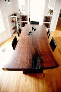 Awesome Resin Wood Table Project 47