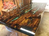 Awesome Resin Wood Table Project 59