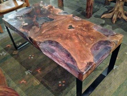 Awesome Resin Wood Table Project 60