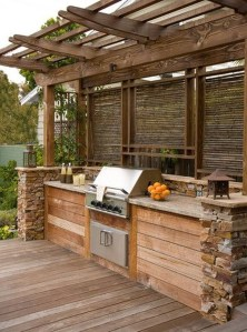 Awesome Yard and Outdoor Kitchen Design Ideas 24