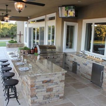 Awesome Yard and Outdoor Kitchen Design Ideas 41