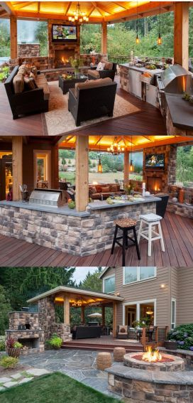 Awesome Yard and Outdoor Kitchen Design Ideas 50
