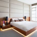 Modern Floating Bed Design with Under Light Ideas 13
