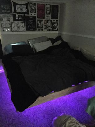 Modern Floating Bed Design with Under Light Ideas 9