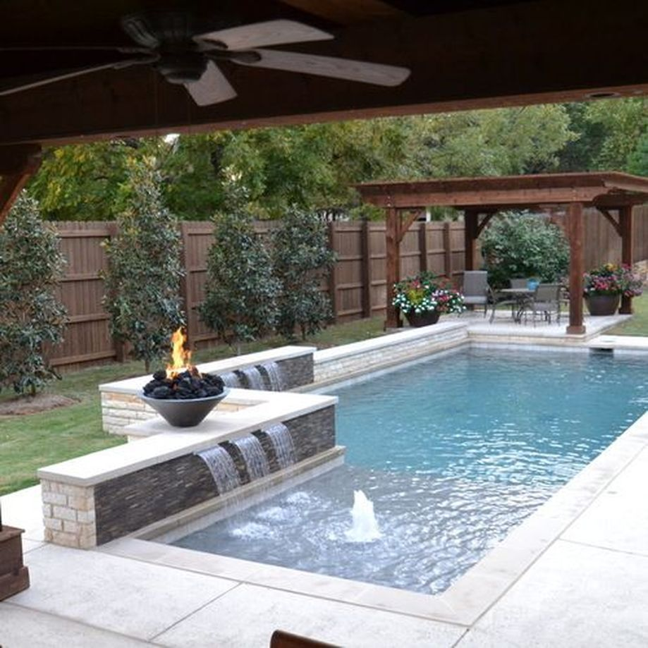 Awesome Small Pool Design for Home Backyard 34 - Hoommy.com on Rectangular Backyard Design  id=28848