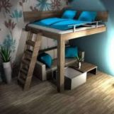 Awesome Cool Loft Bed Design Ideas and Inspirations 32