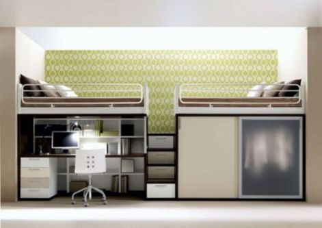 Awesome Cool Loft Bed Design Ideas and Inspirations 33