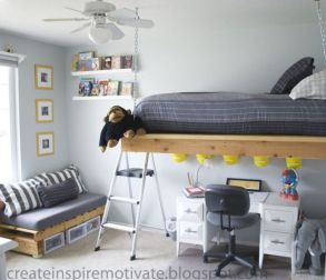 Awesome Cool Loft Bed Design Ideas and Inspirations 81