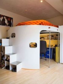 Awesome Cool Loft Bed Design Ideas and Inspirations 93