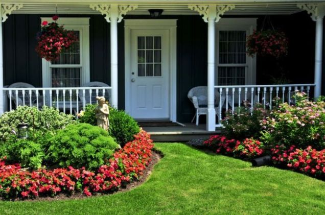 Colorful Landscaping with Low Maintenace Flower Bushes 1