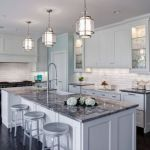 Elegant Kitchen Light Cabinets with Dark Countertops 16