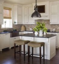 Elegant Kitchen Light Cabinets with Dark Countertops 35