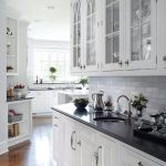Elegant Kitchen Light Cabinets with Dark Countertops 39