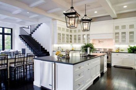 Elegant Kitchen Light Cabinets with Dark Countertops 4