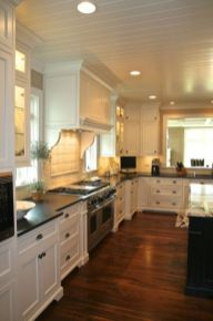 Elegant Kitchen Light Cabinets with Dark Countertops 40