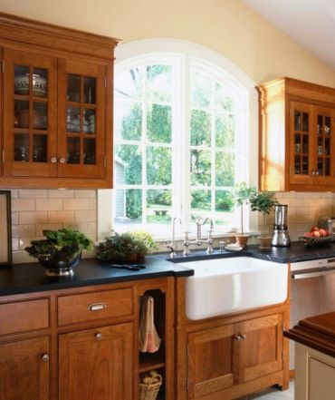 Elegant Kitchen Light Cabinets with Dark Countertops 43