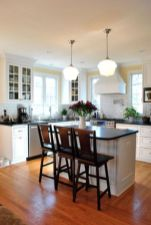 Elegant Kitchen Light Cabinets with Dark Countertops 46