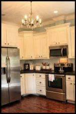 Elegant Kitchen Light Cabinets with Dark Countertops 48