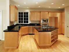 Elegant Kitchen Light Cabinets with Dark Countertops 55