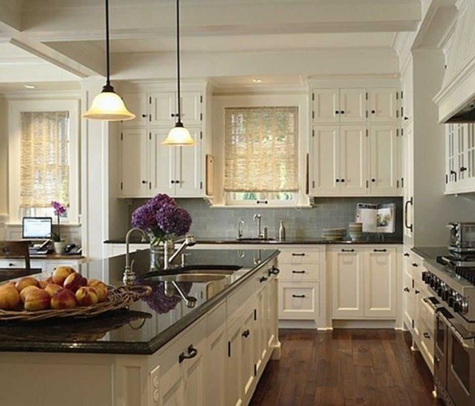 Elegant Kitchen Light Cabinets with Dark Countertops 58 ... on Kitchen Backsplash With Black Countertop  id=96159