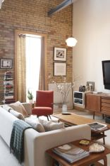Fascinating Exposed Brick Wall for Living Room 23