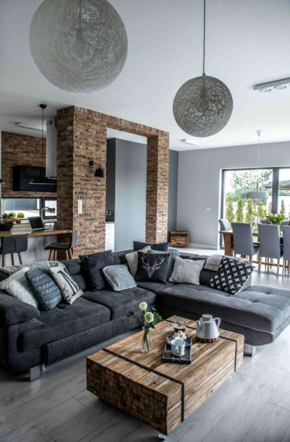 Fascinating Exposed Brick Wall for Living Room 1