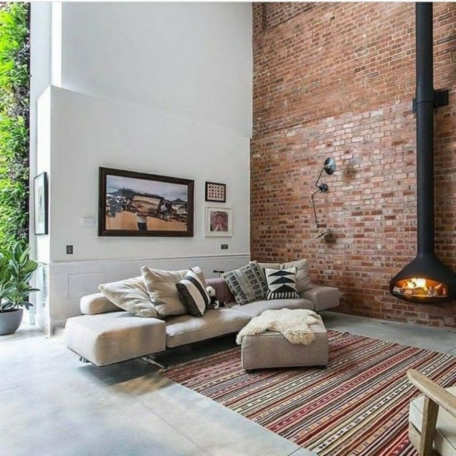 Fascinating Exposed Brick Wall For Living Room 40 Hoommy Com