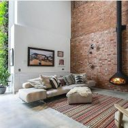 Fascinating Exposed Brick Wall for Living Room 40