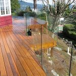 50 Incredible Glass Railing Design for Home Blacony 11