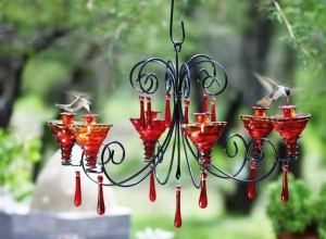 DIY Chandelier Hummingbird Feeder Ideas