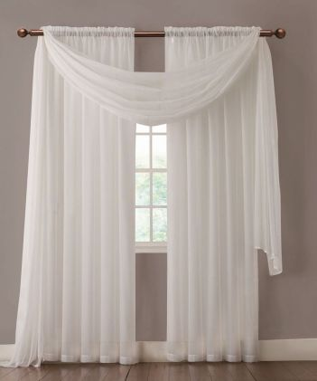Beauty and Elegant White Curtain for Bedroom and Living Room 46