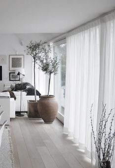 Beauty and Elegant White Curtain for Bedroom and Living Room 60