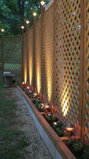 Cool Privacy Fence Wooden Design for Backyard 48
